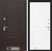 Входная металлическая дверь Лабиринт Мегаполис 11 (Венге / Белый софт)
