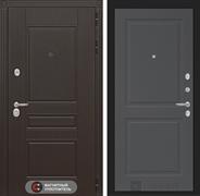 Входная металлическая дверь Лабиринт Мегаполис 11 (Венге / Графит софт)