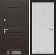 Входная металлическая дверь Лабиринт Мегаполис 6 (Венге / Белое дерево)