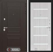 Входная металлическая дверь Лабиринт Мегаполис 1 (Венге / Сандал белый)