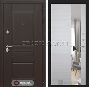 Входная металлическая дверь Лабиринт Мегаполис с Зеркалом (Венге / Акация светлая)