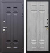 Входная металлическая дверь АСД Виват (Горький шоколад / Сосна белая)