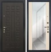 Входная дверь Лекс 4А Неаполь Mottura Стиль с Зеркалом Дуб беленый (панель №45)