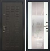 Входная дверь Лекс 4А Неаполь Mottura Стиль с Зеркалом Ясень белый (панель №61)