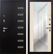 Входная металлическая дверь Лекс Витязь Стиль с Зеркалом Белёный дуб (панель №45)