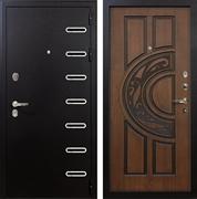 Входная металлическая дверь Лекс Витязь Голден патина черная (панель №27)