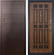 Входная металлическая дверь Лекс Легион Голден патина черная (панель №33)
