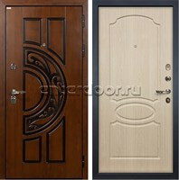 Входная металлическая дверь Лекс Спартак Cisa Белёный дуб (панель №