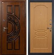 Входная металлическая дверь Лекс Спартак Cisa Дуб натуральный (панель №15)