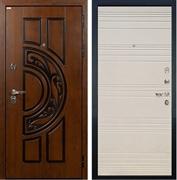Входная металлическая дверь Лекс Спартак Cisa Дуб фактурный кремовый (панель №63)