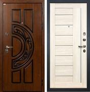 Входная металлическая дверь Лекс Спартак Cisa Верджиния Белёный дуб (панель №38)