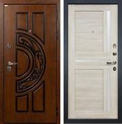 Входная металлическая дверь Лекс Спартак Cisa Баджио Ясень кремовый (панель №49)