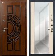 Входная дверь Лекс Спартак Cisa Стиль с Зеркалом Белёный дуб (панель №45)