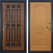 Входная металлическая дверь Лекс Гладиатор 3К Винорит Дуб натуральный (панель №15)