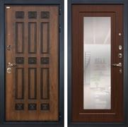 Входная дверь Лекс Гладиатор 3К Винорит с Зеркалом Берёза мореная (панель №30)