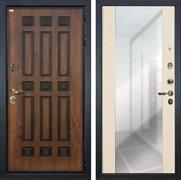 Входная дверь Лекс Гладиатор 3К Винорит Стиль с Зеркалом Белёный дуб (панель №45)