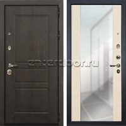 Входная дверь Лекс Сенатор Винорит Стиль с Зеркалом Белёный дуб (панель №45)