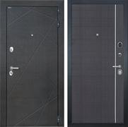 Входная металлическая дверь Интекрон Сенатор Лучи L-6 (Венге распил кофе / Венге)