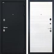 Входная стальная дверь Интекрон Колизей ФЛ-316 (Чёрный шелк / Ясень белый)