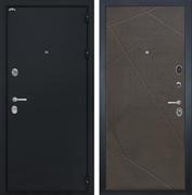 Входная стальная дверь Интекрон Колизей Лучи-М (Черный шелк / Венге распил кофе)