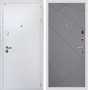 Входная стальная дверь Интекрон Колизей White Лучи-М (Белая шагрень / Софт Графит)