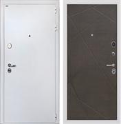 Входная стальная дверь Интекрон Колизей White Лучи-М (Белая шагрень / Венге распил кофе)