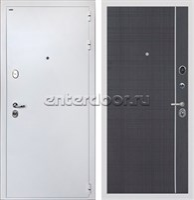 Входная стальная дверь Интекрон Колизей White L-6 (Белая шагрень / Венге)