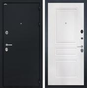 Входная металлическая дверь Интекрон Греция ФЛ-243-М (Чёрный шелк / Белый матовый)