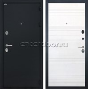 Входная металлическая дверь Интекрон Греция ФЛ-316 (Чёрный шелк / Ясень белый)
