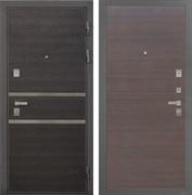 Входная металлическая дверь Интекрон Неаполь (Лен Сильвер / ЭкоВенге)