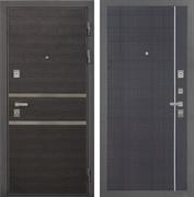 Входная металлическая дверь Интекрон Неаполь L-6 (Лен Сильвер / Венге)