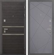 Входная металлическая дверь Интекрон Неаполь Лучи-М (Лен Сильвер / Софт Графит)