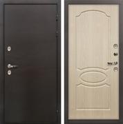 Входная дверь с терморазрывом Лекс Термо Сибирь 3К Беленый дуб (панель №14)