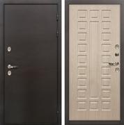 Входная дверь с терморазрывом Лекс Термо Сибирь 3К Беленый дуб (панель №20)