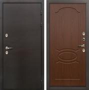 Входная дверь с терморазрывом Лекс Термо Сибирь 3К Берёза мореная (панель №12)
