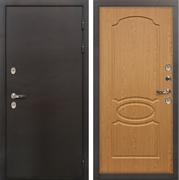 Входная дверь с терморазрывом Лекс Термо Сибирь 3К Дуб натуральный (панель №15)