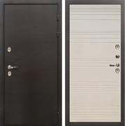 Дверь с терморазрывом Лекс Термо Сибирь 3К Дуб фактурный кремовый (панель №63)