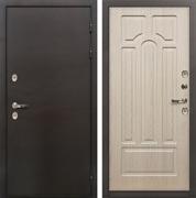 Входная дверь с терморазрывом Лекс Термо Сибирь 3К Беленый дуб (панель №25)