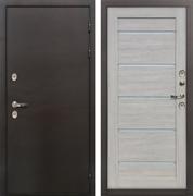 Дверь с терморазрывом Лекс Термо Сибирь 3К Клеопатра-2 Ясень кремовый (панель №66)