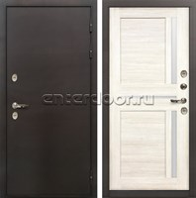 Входная дверь с терморазрывом Лекс Термо Сибирь 3К Баджио Белёный дуб (панель №47)