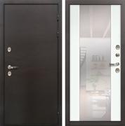 Дверь с терморазрывом Лекс Термо Сибирь 3К Стиль Зеркало Ясень белый (панель №61)