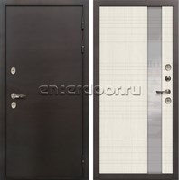 Входная дверь с терморазрывом Лекс Термо Сибирь 3К Новита Беленый дуб (панель №52)