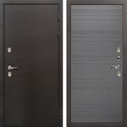 Входная дверь с терморазрывом Лекс Термо Сибирь 3К Графит софт (панель №70)