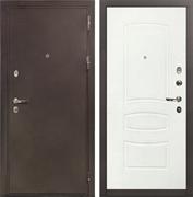 Входная металлическая дверь Лекс 5А Цезарь Белая шагрень (панель №68)