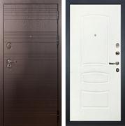 Входная металлическая дверь Лекс Легион Белая шагрень (панель №68)