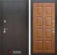 Входная металлическая дверь Лабиринт Сильвер 17 (Антик темное серебро / Золотой дуб)