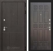 Входная металлическая дверь Лабиринт Урбан 16 (Дуб горький шоколад / Алмон 28)
