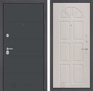 Входная металлическая дверь Лабиринт Арт 15 (Графит софт / Алмон 25)