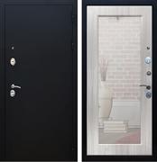 Входная дверь Армада 5А с Зеркалом Пастораль (Чёрный муар / Сандал белый)