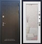 Входная дверь Армада Премиум 246 с Зеркалом Пастораль (Венге / Белый ясень)